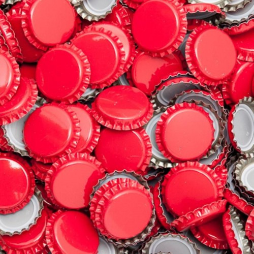 Capsules 26mm, couleur rouge.